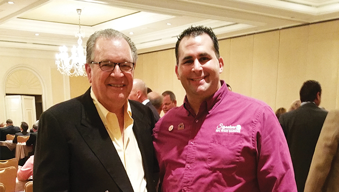 Mr. Mike Ferry of The Mike Ferry Organization with Signature's Broker-President & Principal, Mr. Ben G. Schachter.
